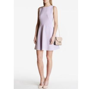 Ted Baker Lilac Purple Skater Dress Sz 0